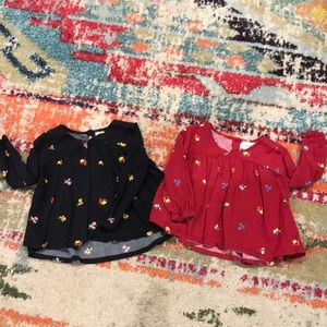 TWINS!! Adorable Flowy Old Navy shirts